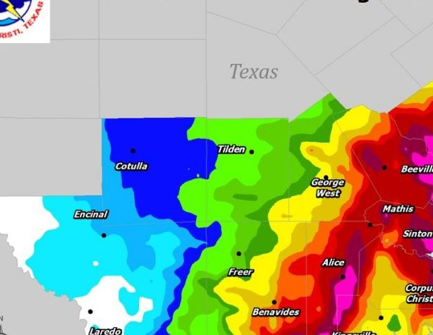 HD Decor Images » USA     Widespread Flooding in Texas After Days of Heavy Rain     FloodList 48 hour rainfall totals in south Texas  18 to 20 June  2018  Image  NWS  Corpus Christi