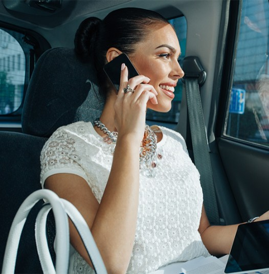 Young-Businesswoman talking on phone