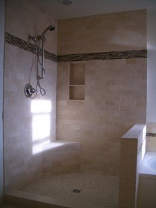 Correct placement of a tiled shower niche