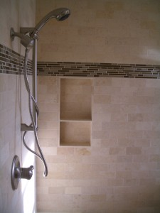How to build a built in shower niche / shelf