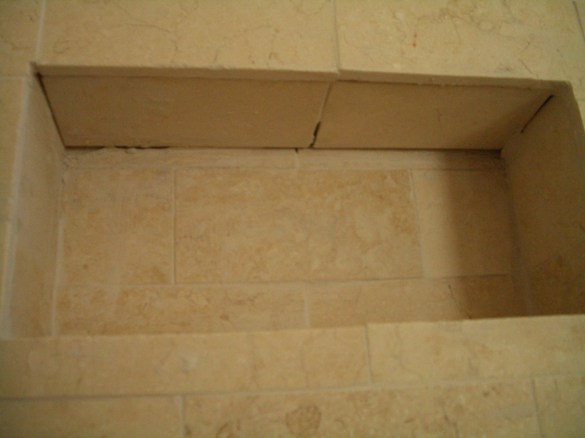 Just lousy tile installation!