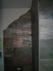 Slate Kerdi walk-in Shower in Fort Collins
