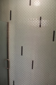 glass wall tile installation