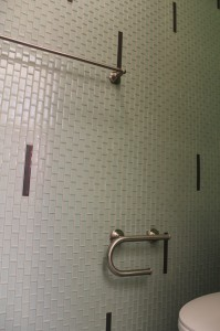 Glass wall tile