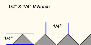 "1/4"" X 1/4"" V-notch trowel"