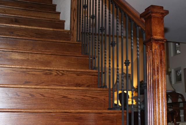 White Oak Stair Treads And Risers ‹ Esl Hardwood Floors Portfolio | Wood Treads And Risers | Step | Coretec Plus | Light Oak | Remodel | Custom