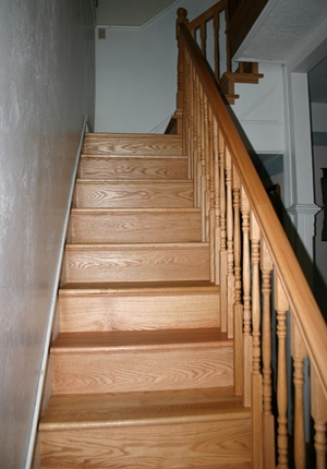 Esl Hardwood Floors Portfolio Hardwood Flooring Photo Gallery   Red Oak Stair Risers   Stair Tread   Stair Parts   Flooring   Stain   Modern Retro