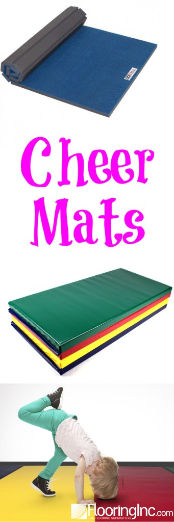 Practice your tumbling, cheer, martial arts and more with your very own Cheer Mats!