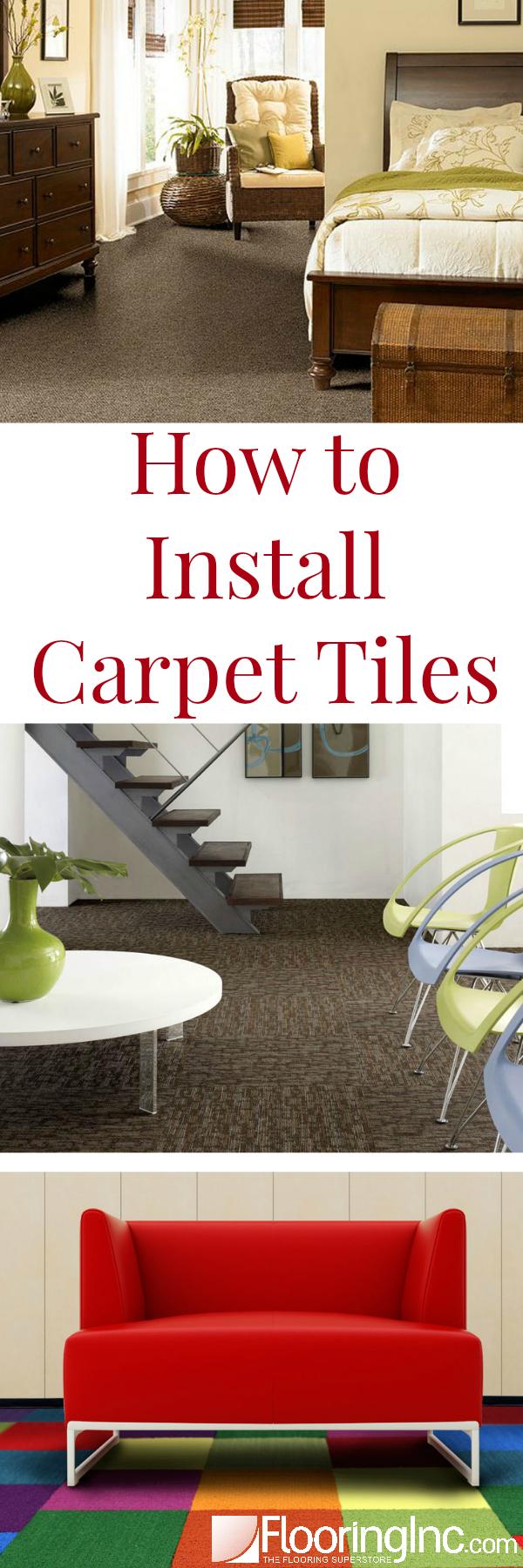How to Install Carpet Tiles in 4 easy steps!