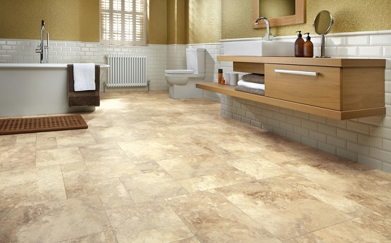 luxury vinyl tile flooring for bathroom | flooring ideas | floor