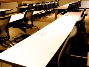 FSI Education commercial flooring for classroom UT Jackson School of Geosciences at J.J. Pickle