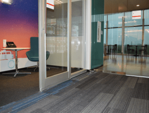 FSI commercial flooring for Office, Hallway, & Cafeteria