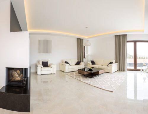 are marble floors slippery