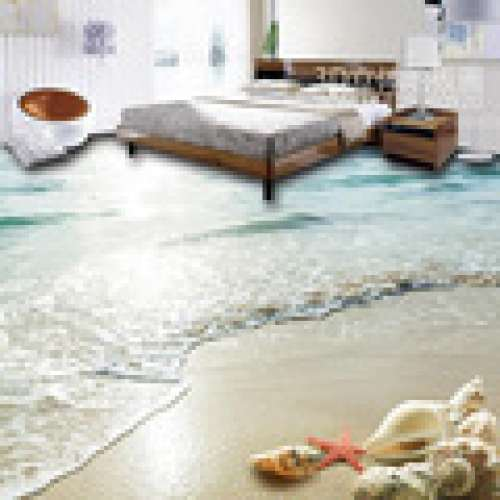 3D Bedroom Seaworld Floor Tile