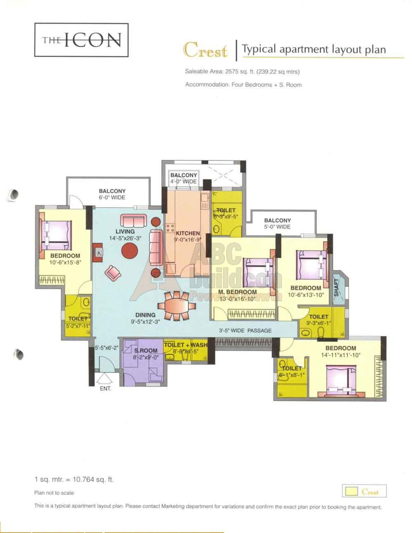 DLF Icon Floor Plan - FloorPlan in