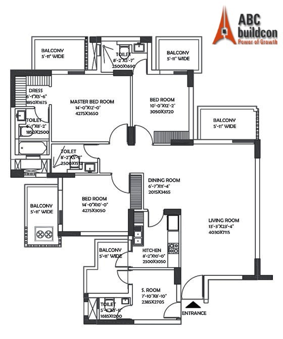 DLF Ultima Floor Plan 3 BHK + S.R – 2098 Sq. Ft.