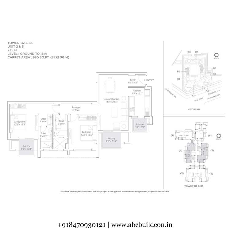 1. Tata La Vida Floor Plan 2 BHK – 1276 Sq. Ft.