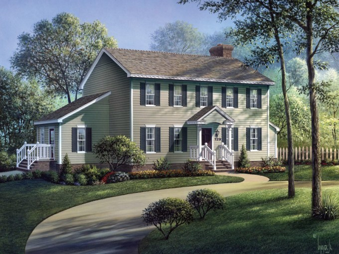 Walton Colonial Home Plan 001D 0002   House Plans and More A Traditional Georgian Home With A Comforting Feel