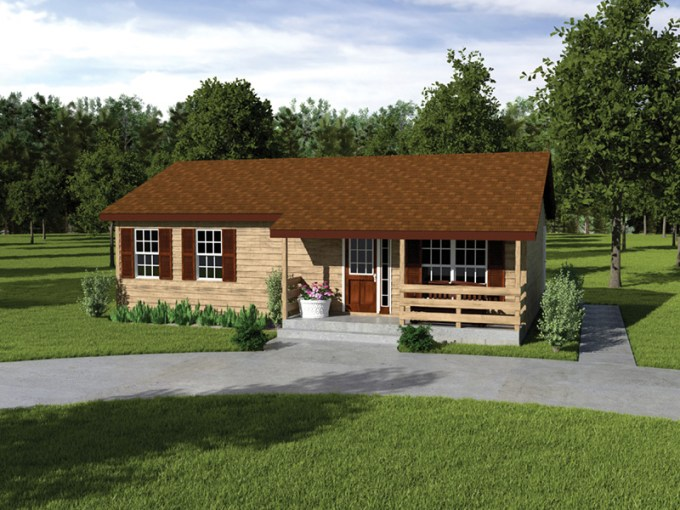 Provider II Country Ranch Home Plan 001D 0040   House Plans and More Ranch Home With Wood Trim