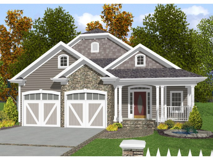 Baldwin Narrow Lot Home Plan 013D 0132   House Plans and More Cheerful Narrow Lot Home