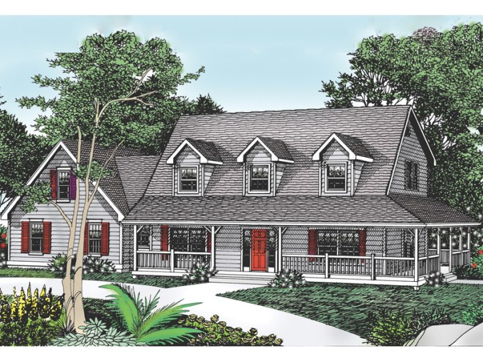 Cottage Hill Cape Cod Style Home Plan 015D 0045   House Plans and More Cottage Hill Cape Cod Style Home