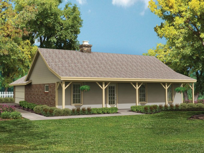Bowman Country Ranch Home Plan 020D 0015   House Plans and More Simple Country Style Ranch Home