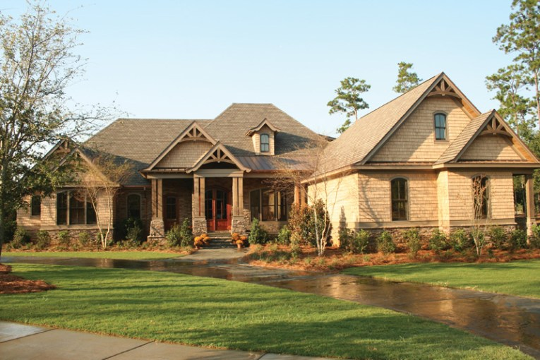 Dickerson Creek Rustic Home Plan 024S 0026   House Plans and More Luxury Country Home With Rustic Touch