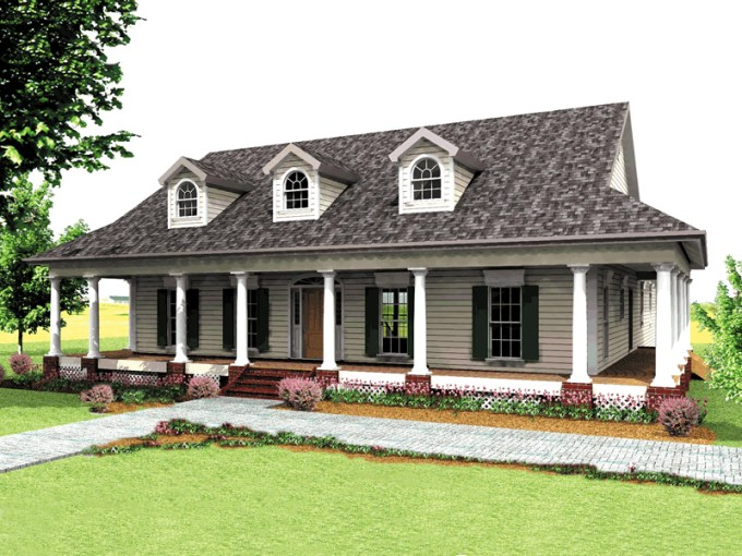Buckfield Country Home Plan 028D 0011   House Plans and More Spacious Country Home