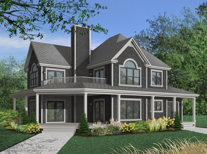 Greenfield Farm Country Home Plan 032D 0681   House Plans and More Greenfield Farm Country Home