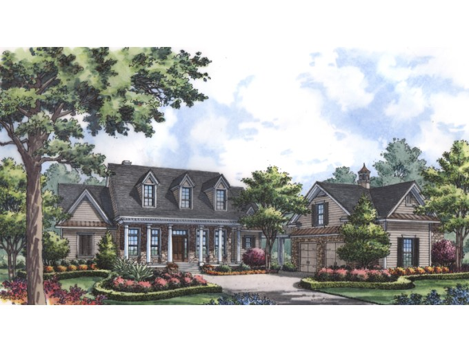 La Belle Southern Colonial Home Plan 047D 0191   House Plans and More Elegant Southern Colonial Style Home