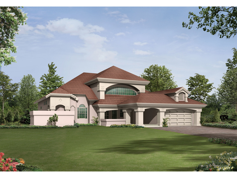 Wynehaven Luxury Florida Home Plan 048D 0004   House Plans and More Luxury House Plan Front Image   048D 0004   House Plans and More