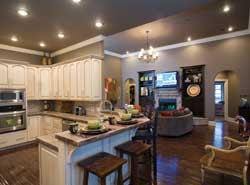 Open Floor Plans and Designs   House Plans and More open floor plan makes this interior look much larger