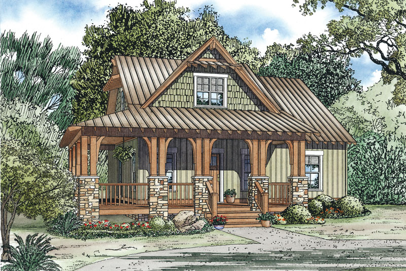 Silvercrest Craftsman Cabin Home Plan 055D 0891 House Plans And More