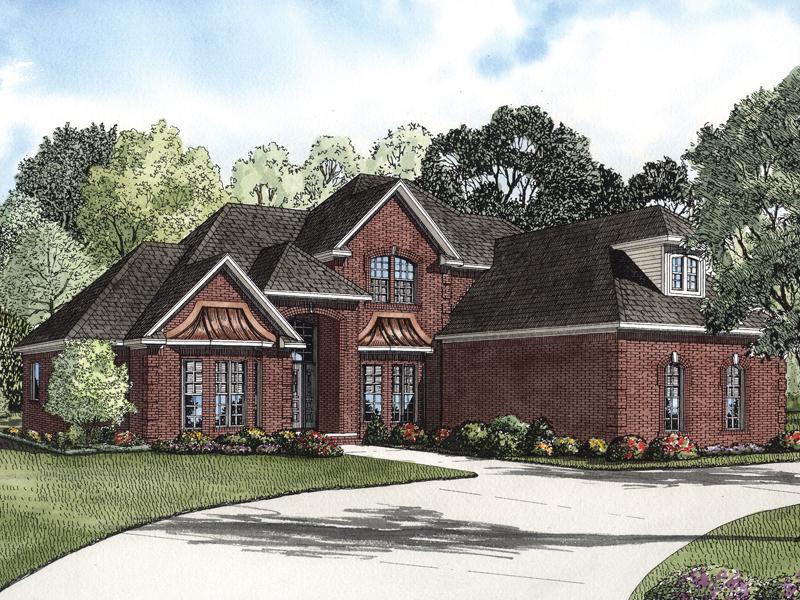 Eldred Luxury Brick Home Plan 055S-0067
