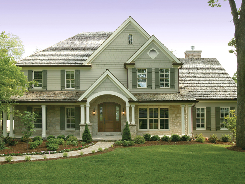 Luca Traditional Home Plan 079D 0001   House Plans and More Traditional Two Story Home With Subtle Craftsman Influence