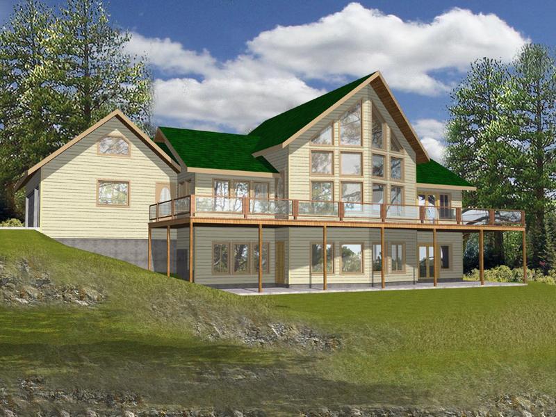 Pebble Creek Lake Home Plan 088D-0071