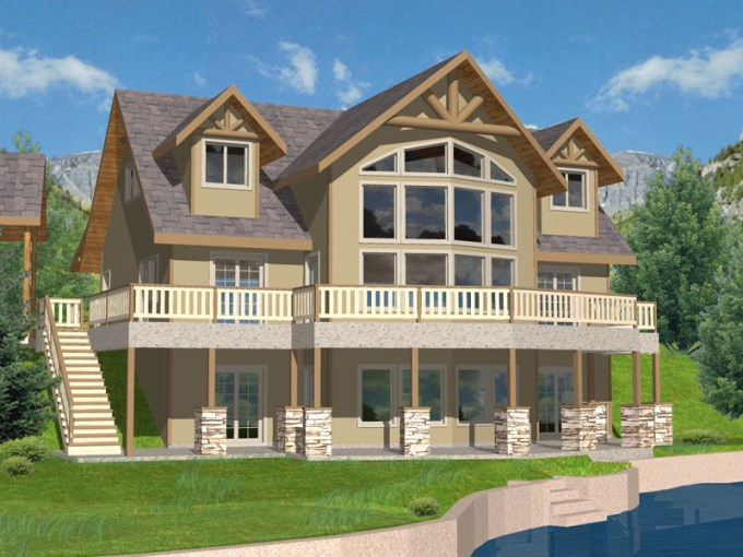 Purcell Lake Rustic Home Plan 088D 0259   House Plans and More Purcell Lake Rustic Home
