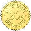 20th Anniversary Embossed Seal