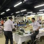 福岡県大川産業会館(木工祭り同会場)にて展示会