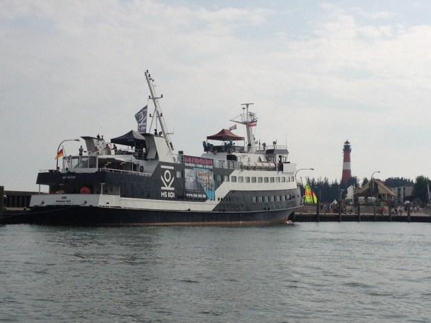 Die MS-Koi, das Partyschiff für die Rücktour.