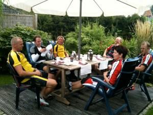 Kaffeepause bei Birte Hansen in Großenwiehe