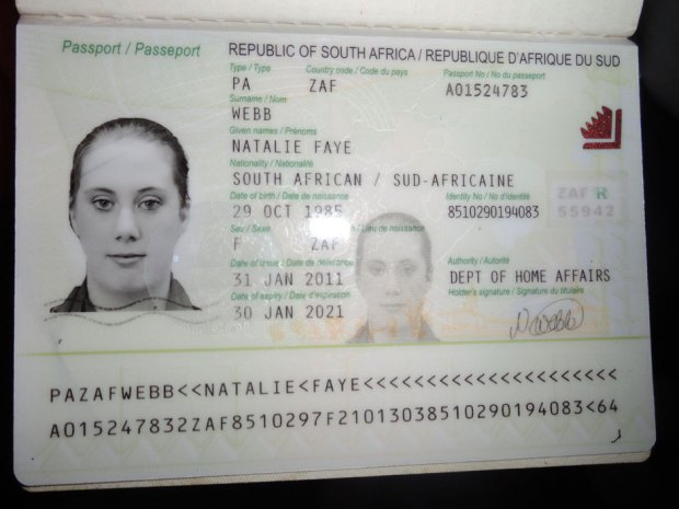 A photo of fake South African passport of Samantha Lewthwaite released by Kenyan police in December 2011. Samantha Lewthwaite, nicknamed 'The white widow', widow of suicide bomber Germaine Lindsay, who blew himself up on a London Underground train on July 7, 2005, killing 26 people, may be among the members of the terrorist cell behind the Nairobi mall massacre.