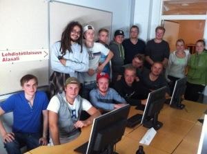 opiskelijoita luokassa