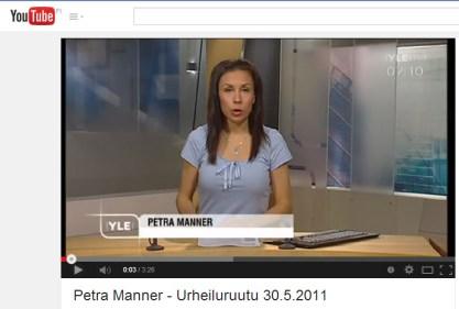 Petra Manner - Urheiluruutu 30.05.20144