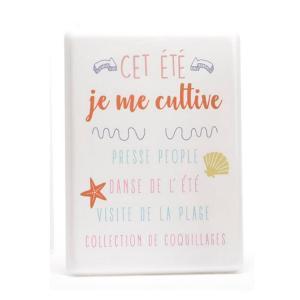 Plaque Métal « Cet été je me cultive »