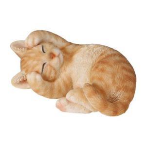 Statue en Résine – Tom – Chat Assis Endormi
