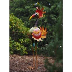 Statue Oiseau Rigolo en métal – Poule Anna 120 cm