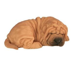 Statue en résine – Ricky – Sharpei bébé dormant 22 cm
