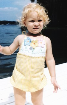 On the pier when I was young