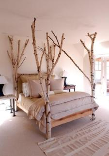 Birch wood Bed